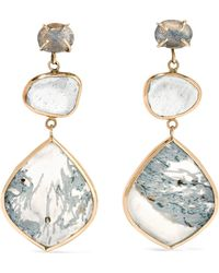 Melissa Joy Manning - 14-karat Gold And Sterling Silver Multi-stone Earrings - Lyst