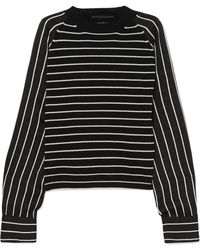 Haider Ackermann | Striped Wool-blend And Satin Sweater | Lyst