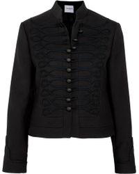 Vilshenko | Dina Embroidered Wool-felt Jacket | Lyst