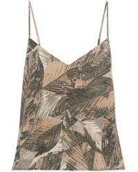 L'Agence - Jane Printed Silk-satin Camisole - Lyst