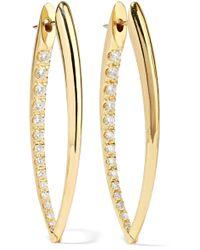 Melissa Kaye Chloe Violet 18-karat Gold Diamond Earrings 6pObxui