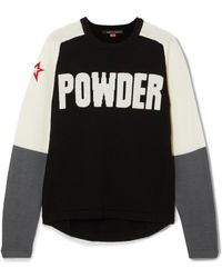 Perfect Moment - Powder Embroidered Intarsia Merino Wool Sweater - Lyst