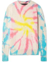 The Elder Statesman - Cyclone Tie-dyed Cashmere Sweater - Lyst