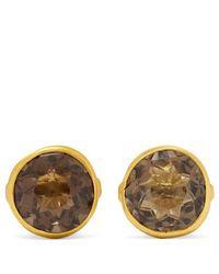 Pippa Small - 18-karat Gold Quartz Earrings - Lyst