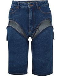 Y. Project - Detachable Cutout Denim Shorts - Lyst