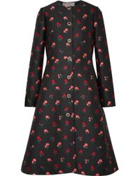 Lela Rose - Wool-blend Jacquard Coat - Lyst