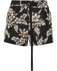 Moncler - Floral-print Silk-georgette Shorts - Lyst