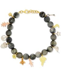 Carolina Bucci - Recharmed Lucky 18-karat Yellow, Rose And White Gold And Agate Bracelet - Lyst