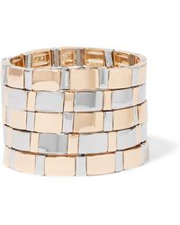 Roxanne Assoulin - Gold Standard Set Of Five Silver And Gold-tone Bracelets - Lyst