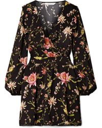 Rachel Zoe - Drea Ruffled Floral-print Voile Mini Dress - Lyst