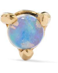 Wwake - Gold Opal Earring - Lyst