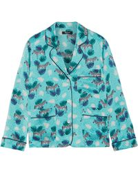 Madewell - Printed Silk-satin Shirt - Lyst
