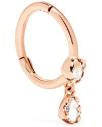 Pascale Monvoisin - Lara 9-karat Rose Gold Diamond Earring Rose Gold One Size - Lyst