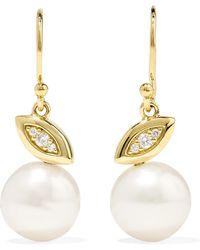 Ippolita - Nova 18-karat Gold, Diamond And Pearl Earrings Gold One Size - Lyst