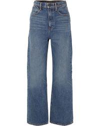 Alexander Wang - Crush High-rise Wide-leg Jeans - Lyst