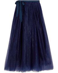 J.Crew | Grosgrain-trimmed Tulle Midi Skirt | Lyst