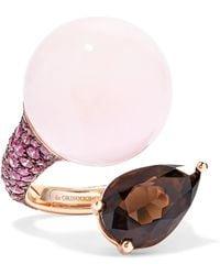 De Grisogono - Boule 18-karat Rose Gold Multi-stone Ring - Lyst