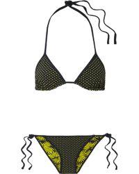 Diane von Furstenberg   Reversible Printed Triangle Bikini   Lyst