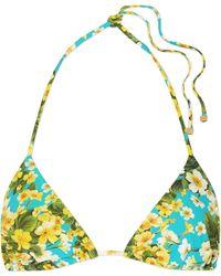 Dolce & Gabbana - Floral-print Triangle Bikini Top - Lyst