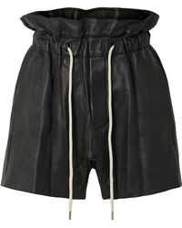 Bassike - Leather Shorts - Lyst