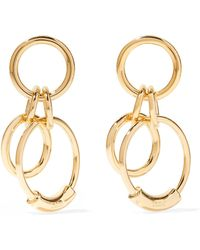 Chloé - Reese Small Gold-tone Earrings - Lyst