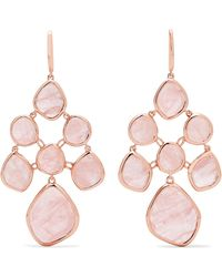 Monica Vinader - Siren Chandelier Rose Gold Vermeil Quartz Earrings Rose Gold One Size - Lyst