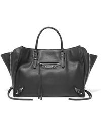 Balenciaga - Papier A6 Small Textured-leather Tote - Lyst
