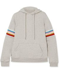 ALEXACHUNG - Striped Cotton-jersey Hooded Top - Lyst