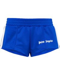 Palm Angels - Striped Satin-jersey Shorts - Lyst