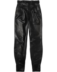Givenchy - Leather Tapered Pants - Lyst