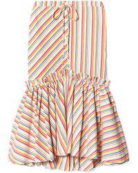 Rosie Assoulin - Striped Seersucker Midi Skirt - Lyst