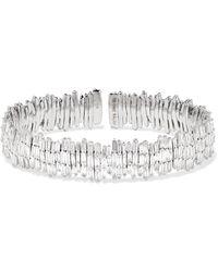 Suzanne Kalan - 18-karat White Gold Diamond Cuff - Lyst