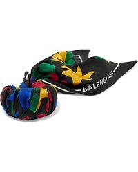 Balenciaga - Printed Silk-twill Bracelet - Lyst