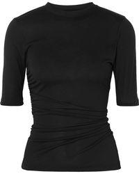 Jacquemus - Le Souk Ruched Jersey T-shirt - Lyst