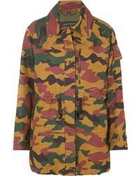 Burberry - Veste En Toile De Coton Et Ramie Mélangés à Imprimé Camouflage - Lyst