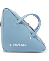 Balenciaga - Triangle Duffle Printed Leather Tote - Lyst