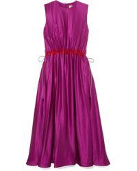 ROKSANDA - Keeva Silk-satin Midi Dress - Lyst