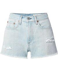 Rag & Bone - Justine Distressed Denim Shorts - Lyst