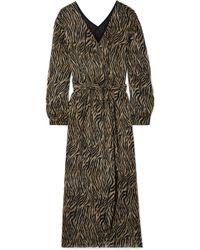 Nanushka - Oasis Printed Crepon Midi Dress - Lyst