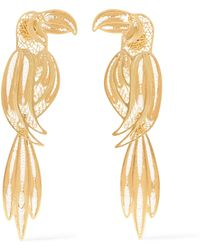 Mallarino - Tucan Gold Vermeil Earrings Gold One Size - Lyst