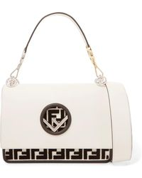 Fendi - Kan I Flocked Leather Shoulder Bag - Lyst