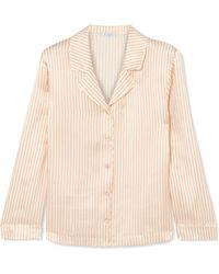 Eres - Crema Striped Silk-seersucker Pajama Top - Lyst