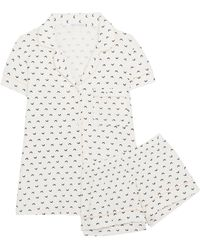 Eberjey - Sleep Chic Printed Jersey Pyjama Set - Lyst