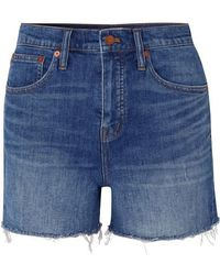 Madewell - Distressed Denim Shorts - Lyst
