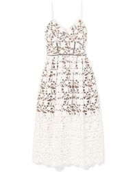 Self-Portrait - Azaelea Guipure Lace Dress - Lyst