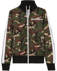 Palm Angels - Striped Camouflage-print Satin-jersey Track Jacket - Lyst