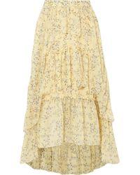 Ulla Johnson - Marilyn Asymmetric Ruffled Floral-print Silk-georgette Skirt - Lyst