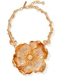 Oscar de la Renta - Poppy Gold-plated Necklace Gold One Size - Lyst