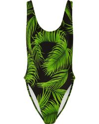 Norma Kamali - Marissa Printed Swimsuit - Lyst