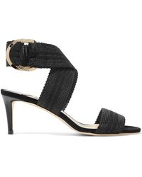 Jimmy Choo - Bailey 65 Canvas And Leather Sandals - Lyst